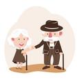 elder couple promise flat design vector image vector image
