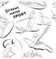 Extreme water sports pattern vector image vector image