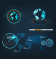 future sight action mode earth interface vector image vector image
