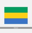 gabon gabonaise national country flag banner icon vector image vector image