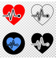 heart pulse eps icon with contour version vector image vector image