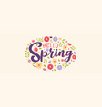 hello spring cute flower banner for nature season vector image