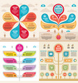 infographic elements template business concept vector image