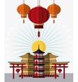 Japan culture and landmark design vector image