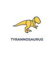 logo tyrannosaurus line art style vector image