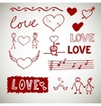 Love sceth romance doodles vector image vector image