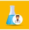 male scientist laboratory beaker icon vector image