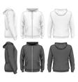 Men zip hoodie vector image