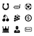 misfortune icons set simple style vector image vector image