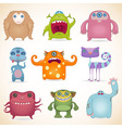 Monsters set2 vector image vector image
