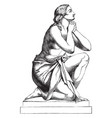 morning prayer sculpture was sculpted by italian vector image vector image
