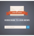 Newsletter template - subscription form vector image vector image