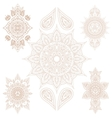 Oriental Mandala Set and Elements vector image