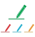 Pencil sign Colorfull set vector image vector image