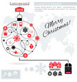 red pathway in the shape of christmas ball on vector image