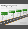 road sign infographic banner traffic street route vector image vector image