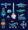 rocket spaceship or spacecraft and vector image
