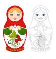 russian matryoshka doll vector image vector image