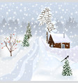 russian winter landscape for postcard poster alb vector image vector image
