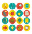 school supplies flat set vector image vector image