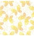 Seamless Pattern Outline Butterflies vector image