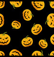 seamless pattern pumpkin with eyes and mouth vector image vector image