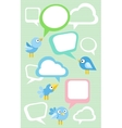 set different birds vector image