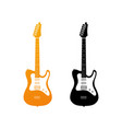 set of icons with electric guitars vector image