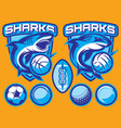 set templates for sports badges vector image