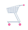 shopping cart with wheels vector image vector image