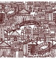 Sketch city seamless pattern vector image vector image