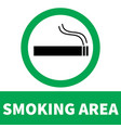 smoking area icon on white background flat style vector image vector image