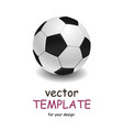 soccer ball over white background vector image
