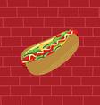 tasty hotdog theme vector image vector image