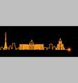 tbilisi light streak skyline vector image vector image