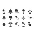 varied type of lamp icon set solid style vector image vector image