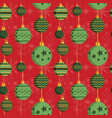 vintage baubles christmas ornament pattern in flat vector image vector image