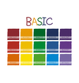 Basic Color Tone vector image