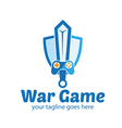 War Game Logo vector image