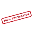 100 Percent Protection Text Rubber Stamp vector image vector image
