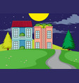 a simple rural home village vector image vector image