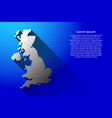 abstract map of united kingdom with long shadow vector image vector image