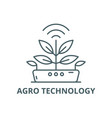 agro technology line icon technology