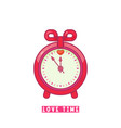 alarm clock with heart flat design style vector image vector image