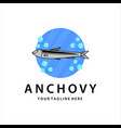 anchovy vintage logo template design