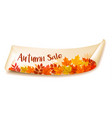 autumn sale banner with colorful leaves layered vector image vector image