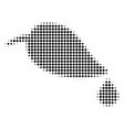 black dot natural leaf with drop icon vector image