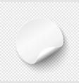 blank papper round banner price tag template vector image