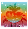 california summer graphic design tee artwork vector image vector image