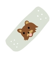 Cartoon medical patch for kids flat icon vector image vector image